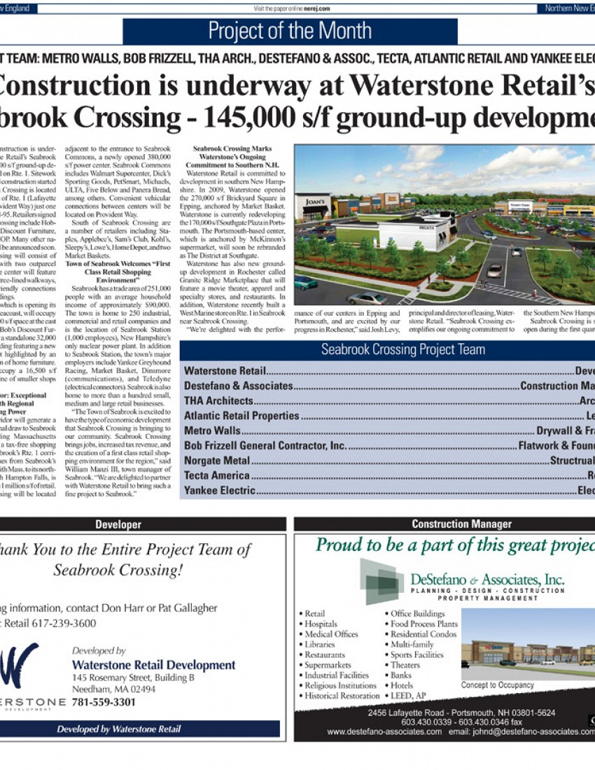 Seabrook Crossing - now under construction